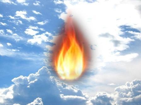 Resultado de imagem para línguas de fogo do céu